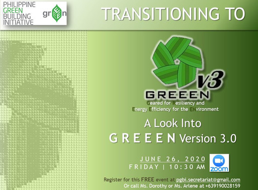 Transitioning to GREEEN v3