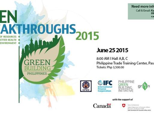 INVITATION: GREEN BREAKTHROUGHS 2015