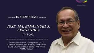 In Memoriam: Jose Ma. Emmanuel Fernandez, MBM 1973