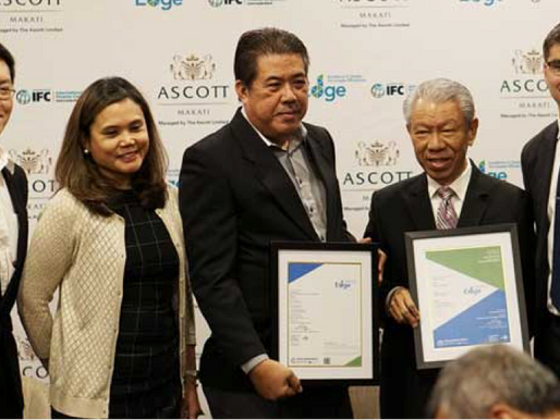 ASCOTT MAKATI RECEIVES EDGE CERTIFICATION