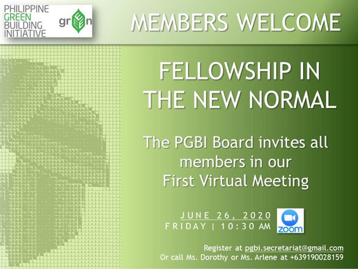 Fellowship in the New Normal: First Virtual Meeting
