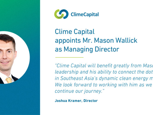 Clime Capital appoints Mr. Mason Wallick as Managing Director