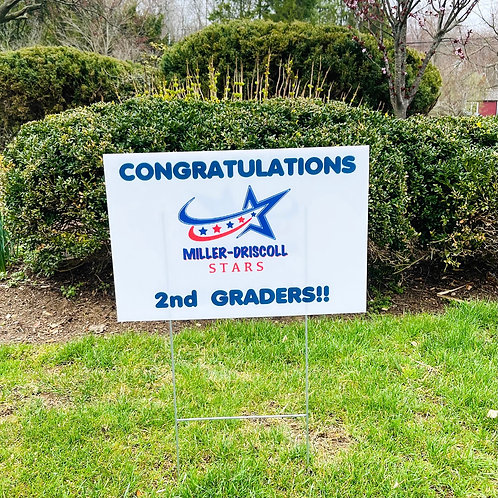 2nd Grade Celebration Lawn Sign (Wilton Pickup)