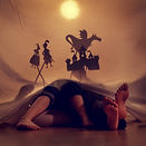 Little children play in the shadow theatre.Theatre. Childhood. Tale..jpg