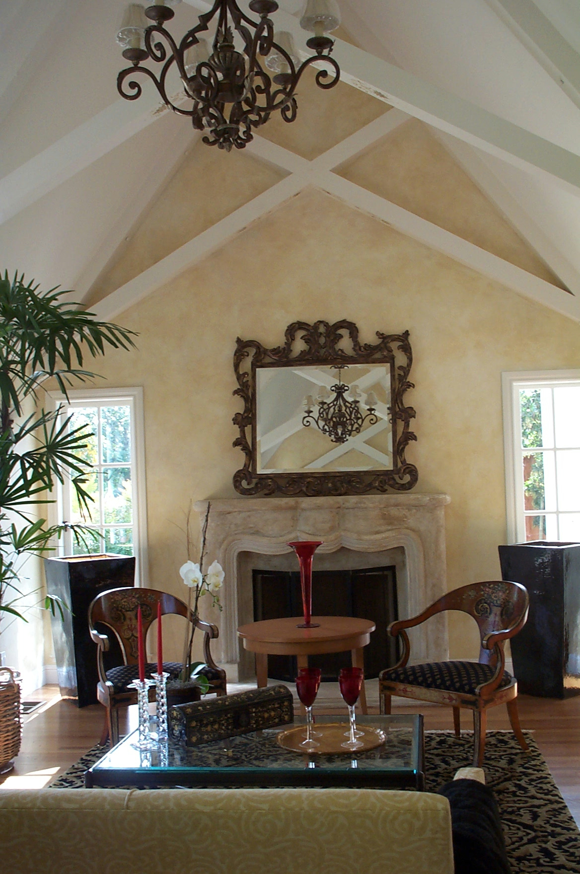 Vaulted Ceilings & Fireplace