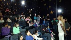 Titi with children in Movie Night