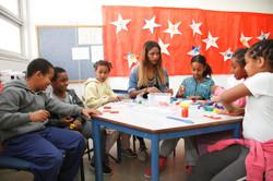 Titi with children in Azorim