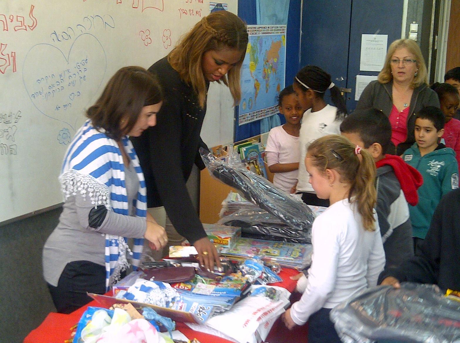 Titi in school supplies program