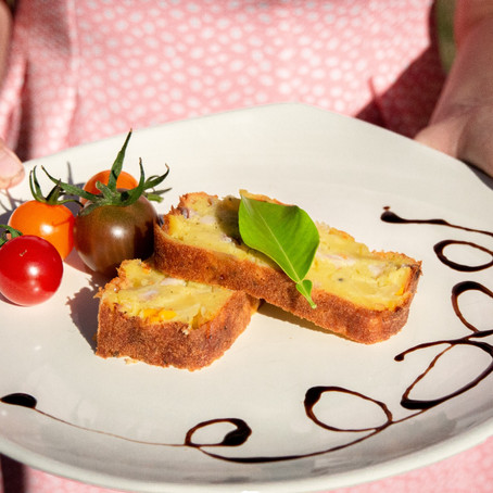 Cake aux courgettes et lardons