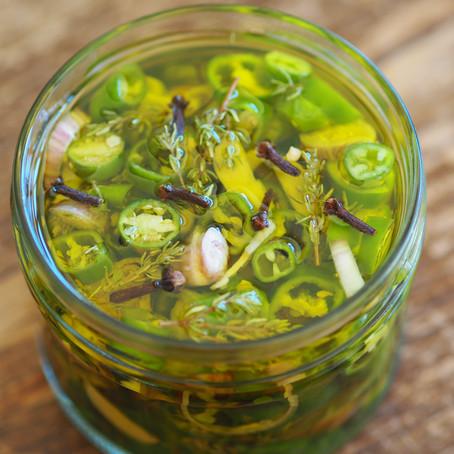 Piment à l'huile d'olive extra vierge et aux aromates