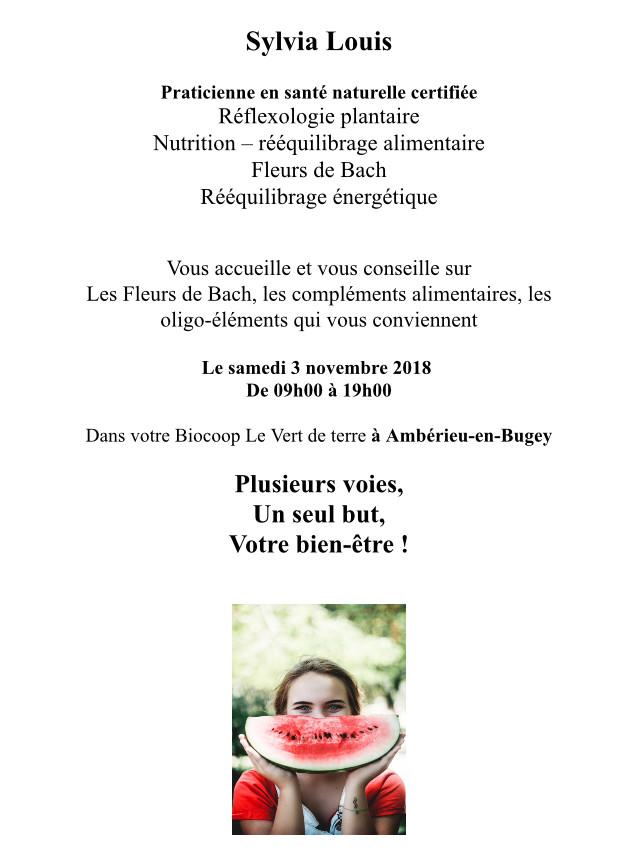 Intervention Biocoop Ambérieu 03/11/2018