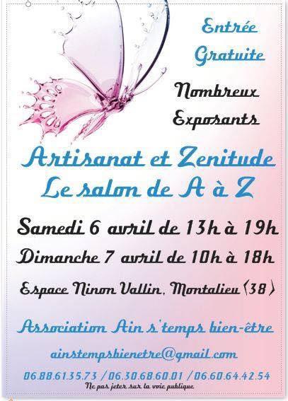 Salon artisanat et zénitude Montalieu 6-7 avril 2019