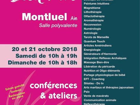 Salon Bien-être à Montluel, les 20-21 octobre 18