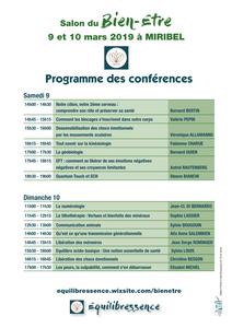 Conférences Salon Miribel 2019