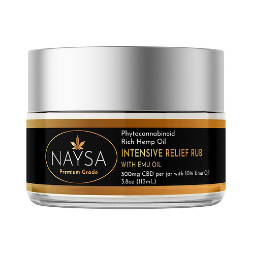 NAYSA Intensive Pain Rub with Emu Oil 500mg