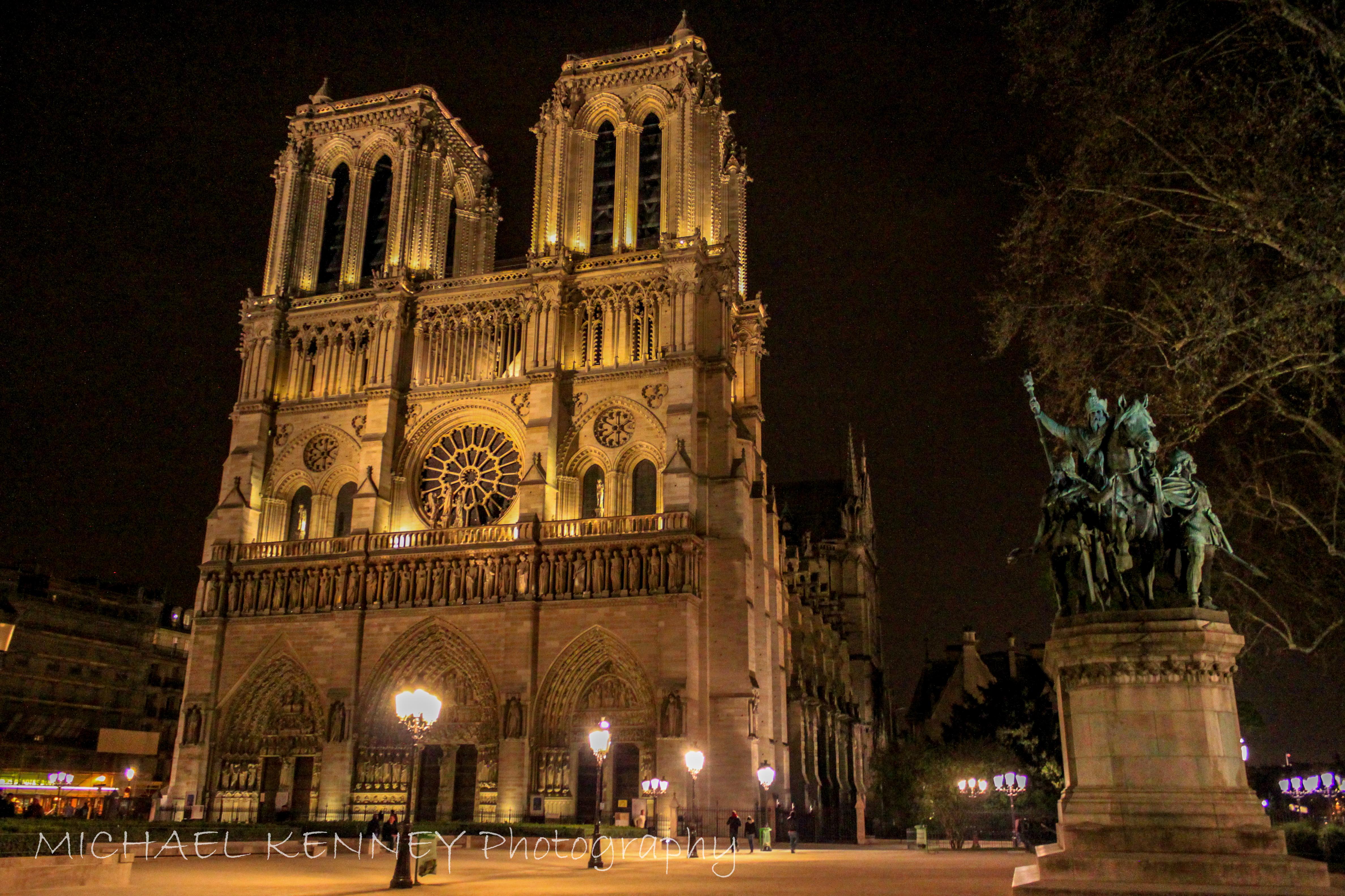 Notre Dame Illuminated, Paris, France-1