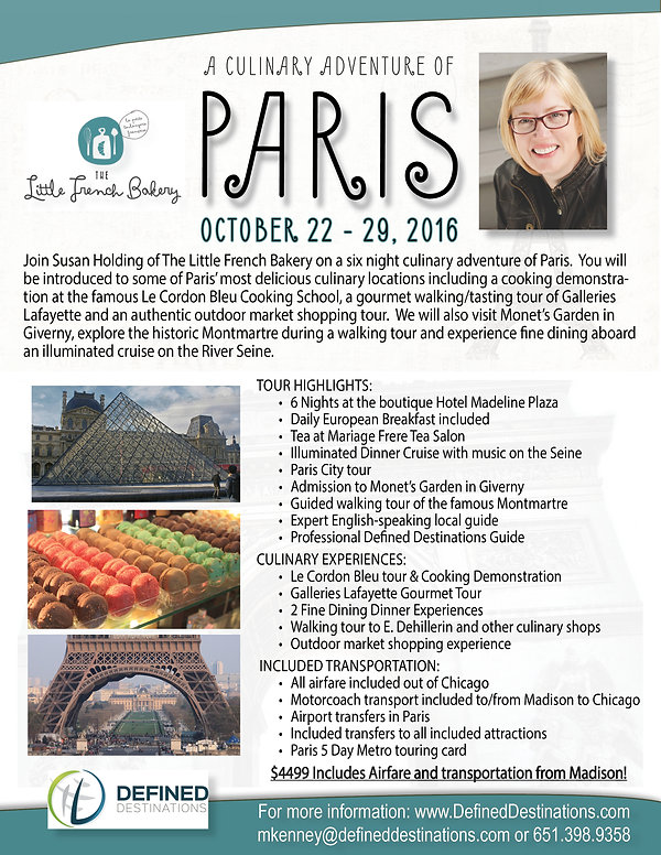 susan holding, paris, culinary, food, cooking class, trip, tours, europe, devine destinations, defined destinations,