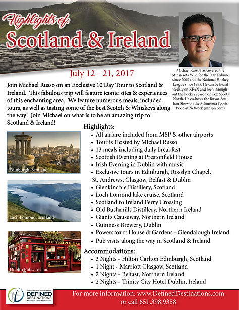 Michael Russo trip to Scotland Ireland