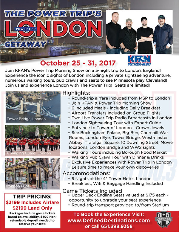 KFAN Power Trip tour to London