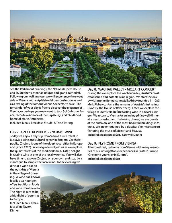 Budapest & Vienna brochure itinerary3.jp