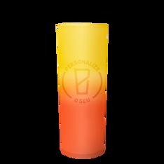 Amarelo com laranja