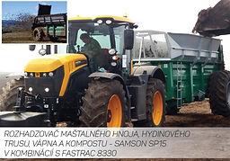Rozmetač maštaľného hnoja SAMSON SP 15