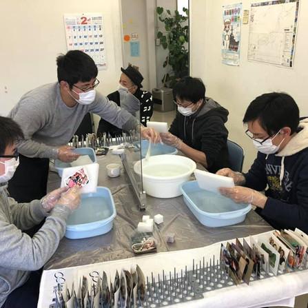 第1回写真洗浄ボランティアinサポステ