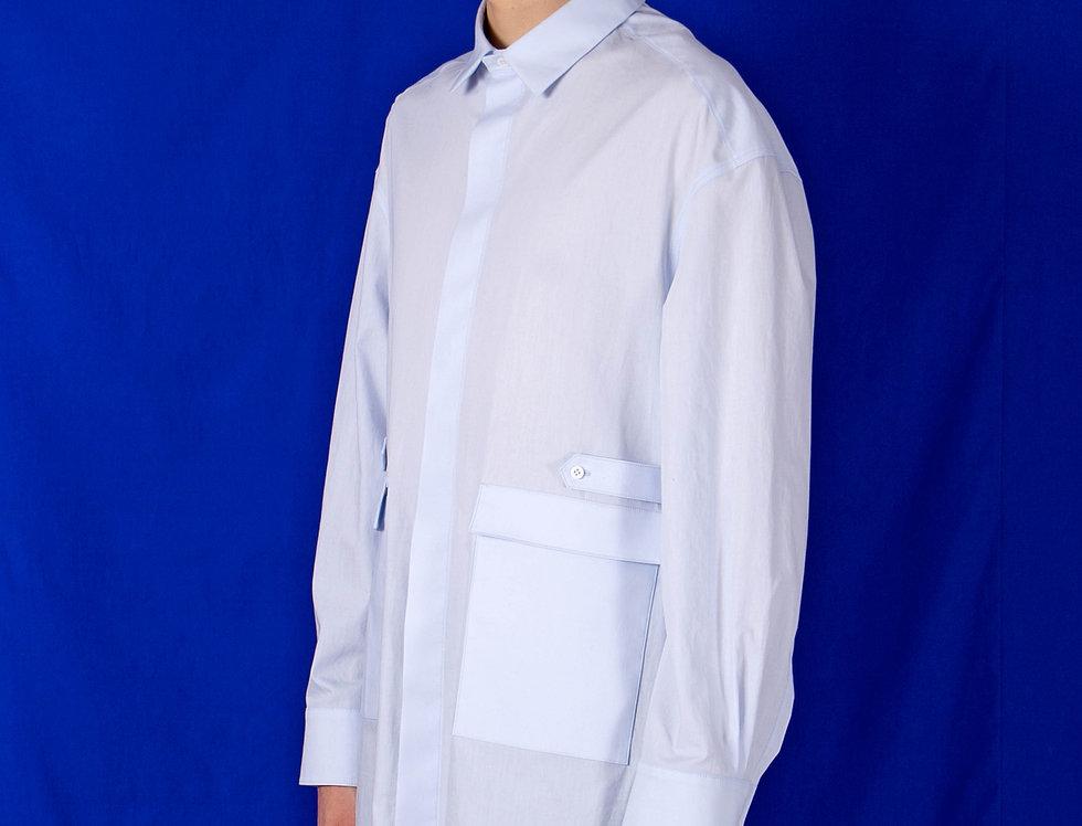 OVERSIZED FLY-FRONT WORK SHIRT オーバーサイズフライフロントワークシャツ【受注予約】