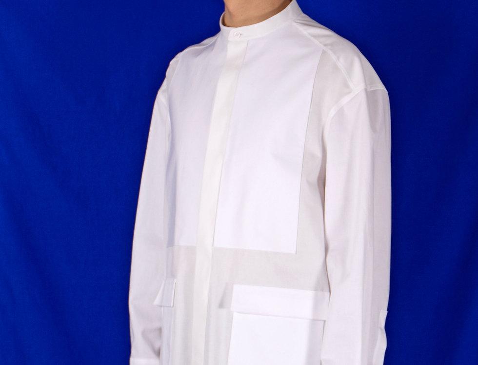 STAND-COLLAR WORK DRESS SHIRT スタンドカラーワークドレスシャツ【受注予約】