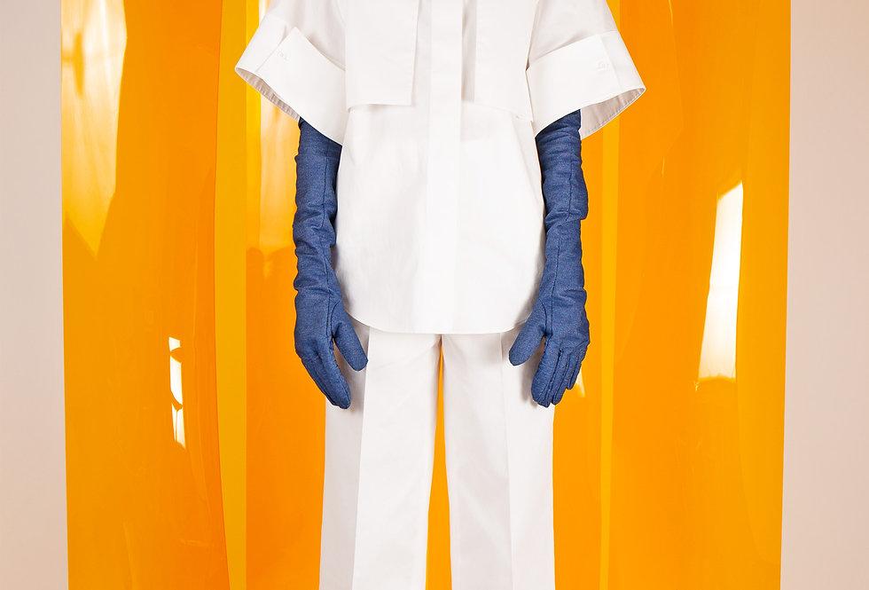 Storm Flap Short Sleeve Stand Collar Shirt ストームフラップショートスリーブスタンドカラーシャツ