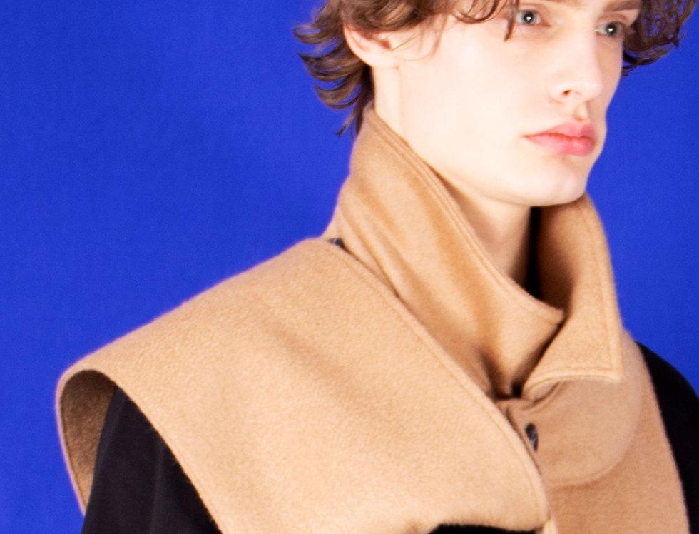 CASHIMERE-WOOL COAT COLLAR SCARF カシミアウールコートカラースカーフ【受注予約】