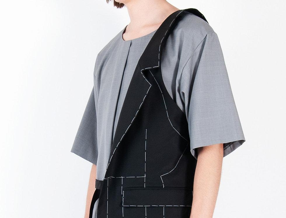 Tailored Pocket Bag (with hand stitches) テーラードポケットバッグ(ハンドスティッチ)