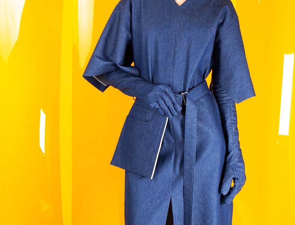 Open Sleeve V-Neck Dress オープンスリーブVネックドレス【完売】
