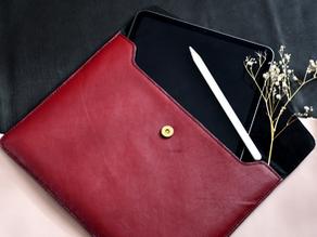Tablet/Laptop-Hülle aus Leder