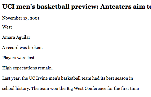 Men's hoops preview, Daily Pilot