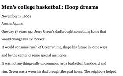 Hoop Dreams, Daily Pilot