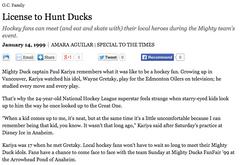 License to Hunt Ducks, LA Times (OC)
