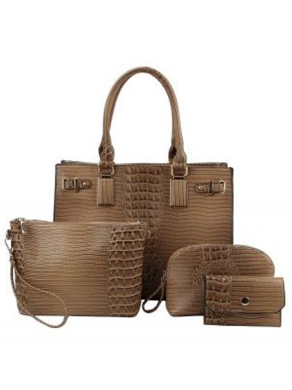LeMiel 4 in 1 Handbag Set (Stone)
