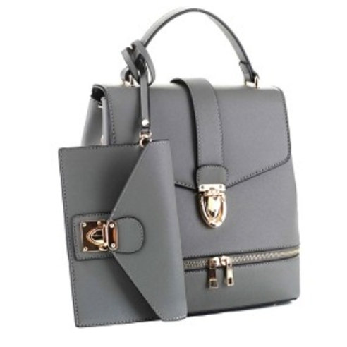 Gray Backpack Purse