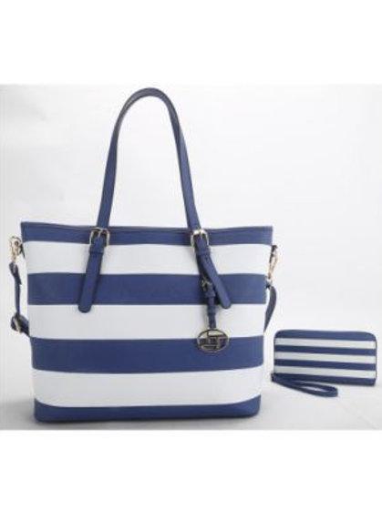 Blue Stripe Handbag