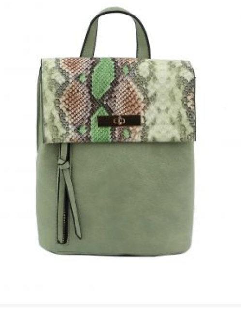 Sage Snake Backpack Purse