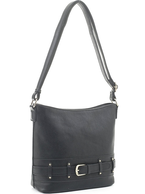 Buckle Crossbody Handbag (Black)