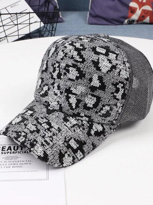Leopard Hat (Silver)
