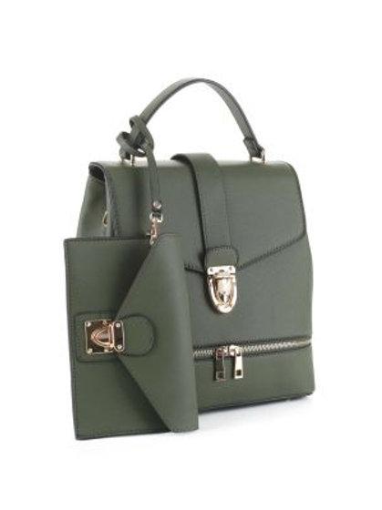 Olive Green Backpack Tote