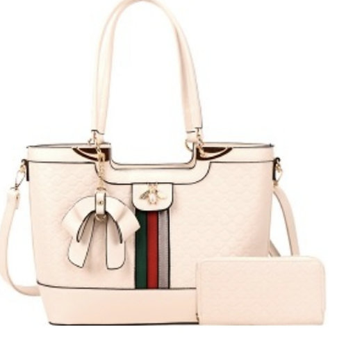 Cream Bee Handbag