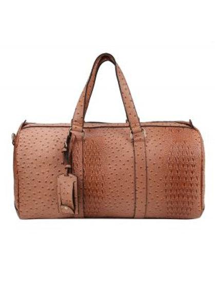 Rose Pink Ostrich Duffle Bag