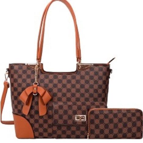 Checkered Hobo Handbag