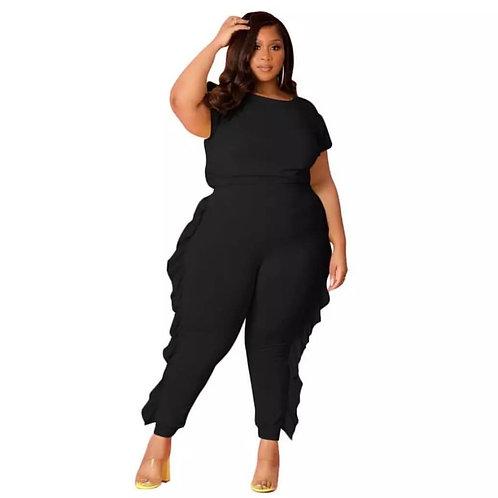 Ruffled jumpsuit - Black