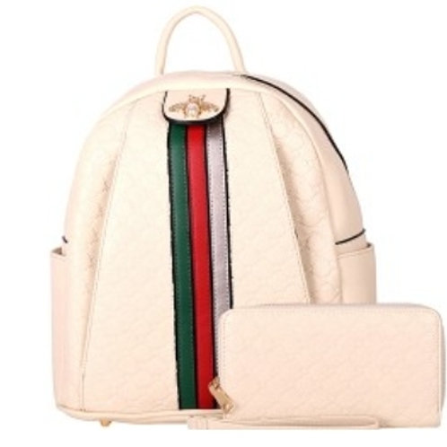 Beautiful Bee Backpack (white)