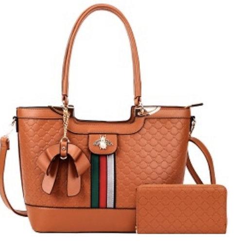 Brown Bee Handbag